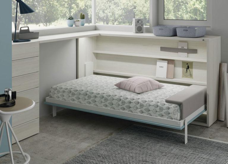 Cama abatible horizontal y escritorio. De Jotajotape