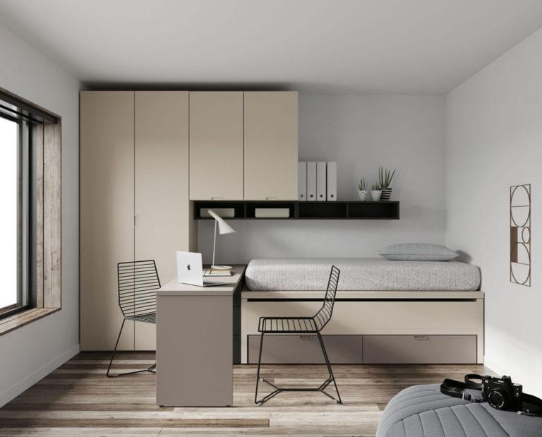 Bi-cama compacta con 2 cajones. De Jotajotape