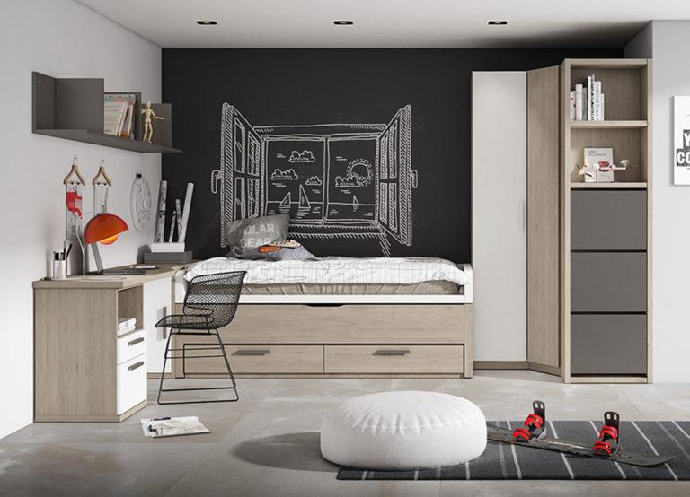 Compacto y armario con terminal zapatero. De Lan Mobel