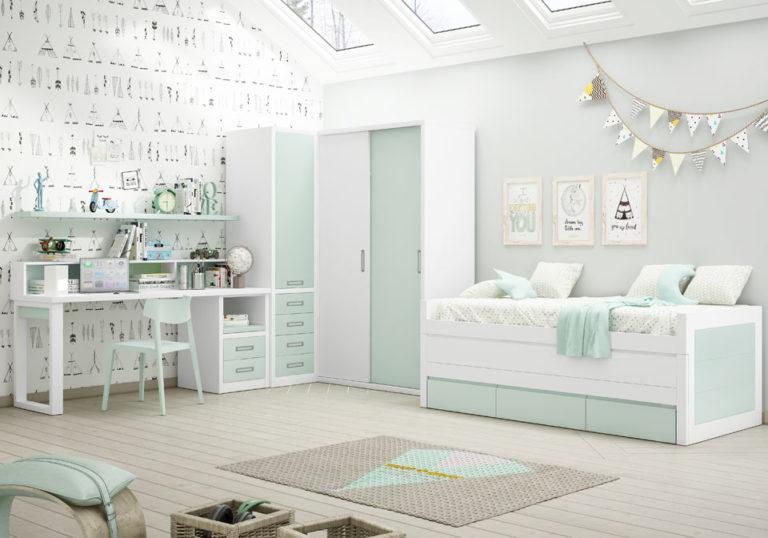 Dormitorio juvenil completo. De Piñero y Cabrero