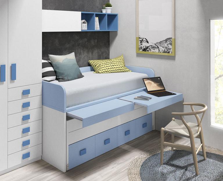 Cama compacta con escritorios 1017-16
