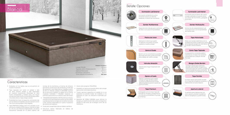 Canape abatible Mod. Blanca  770-7