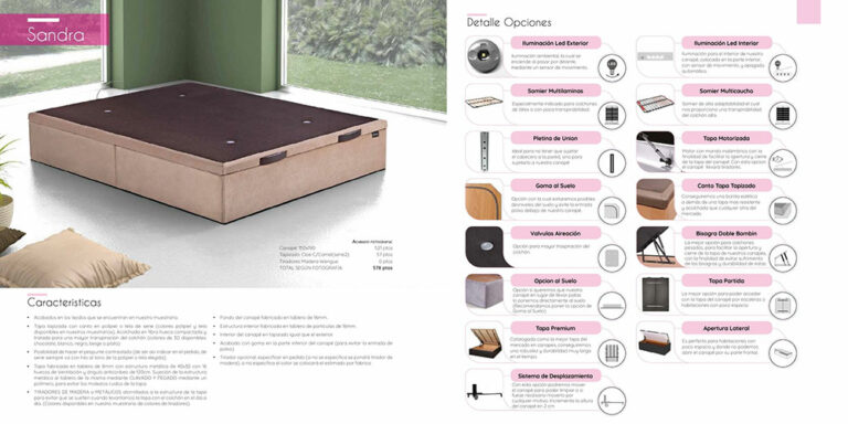 Canape abatible Mod. Sandra  770-10
