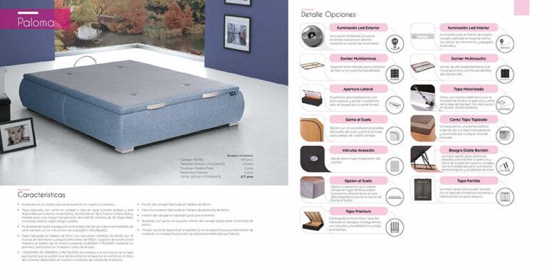 Canape abatible Mod. Paloma  770-11