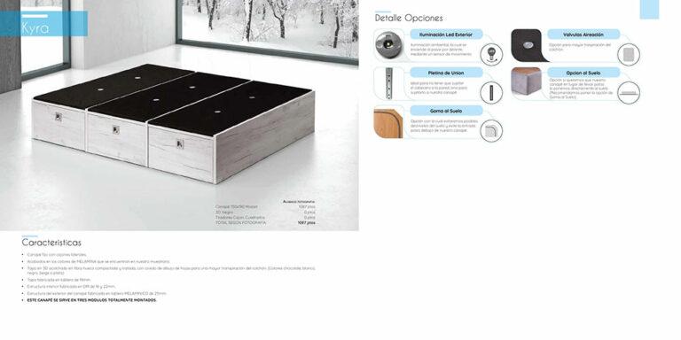 Canape abatible madera Mod. Kyra  770-20