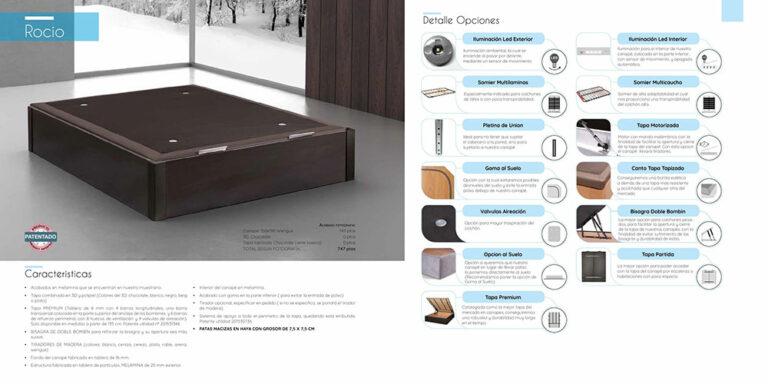 Canape abatible madera Mod. Rocio 770-21