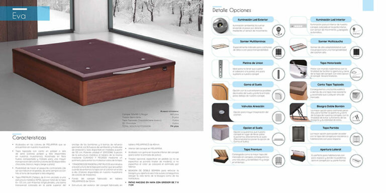 Canape abatible madera Mod. Eva 770-22