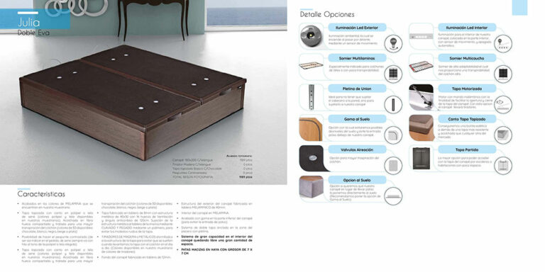 Canape abatible madera Mod. Julia 770-23