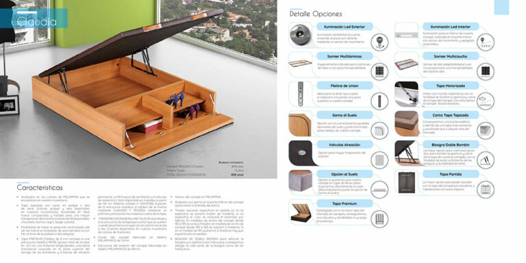 Canape abatible madera Mod. Claudia 770-24