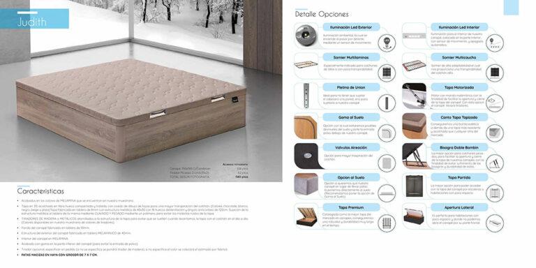 Canape abatible madera Mod. Judith 770-25