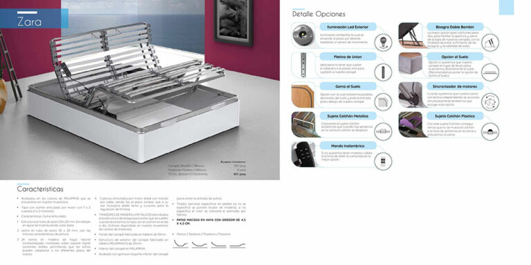 Canape abatible madera Mod. Zara 770-28