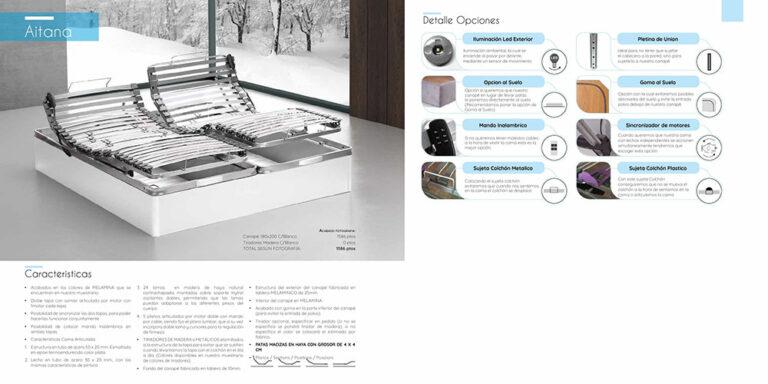 Canape abatible madera Mod. Aitana 770-29