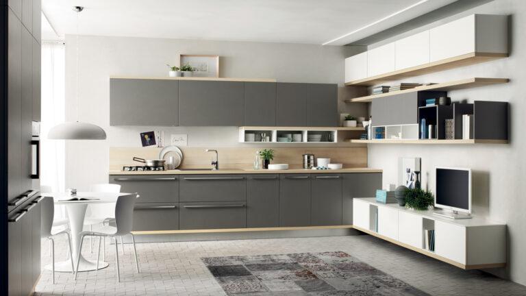 Espacios de cocina integrados en salon