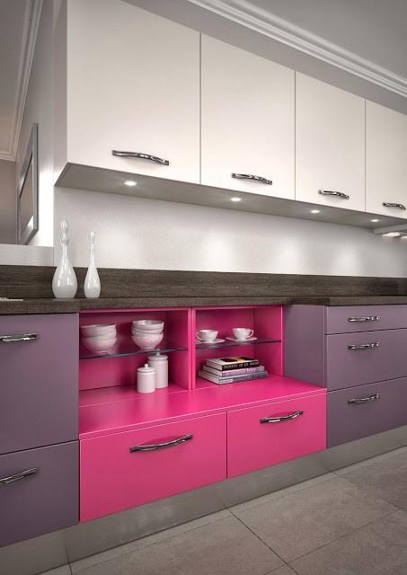Muebles de cocina modernos con tirador suelto