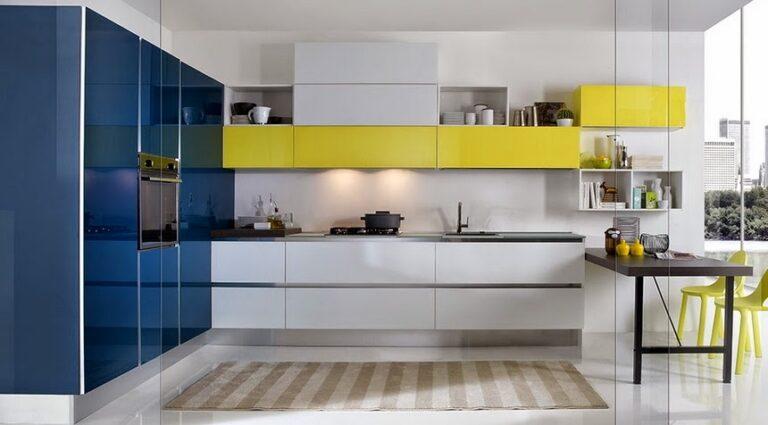 Muebles de cocina modernos con tirador integrado