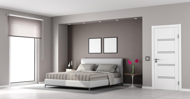 Dormitorio de matrimonio estilo minimalista