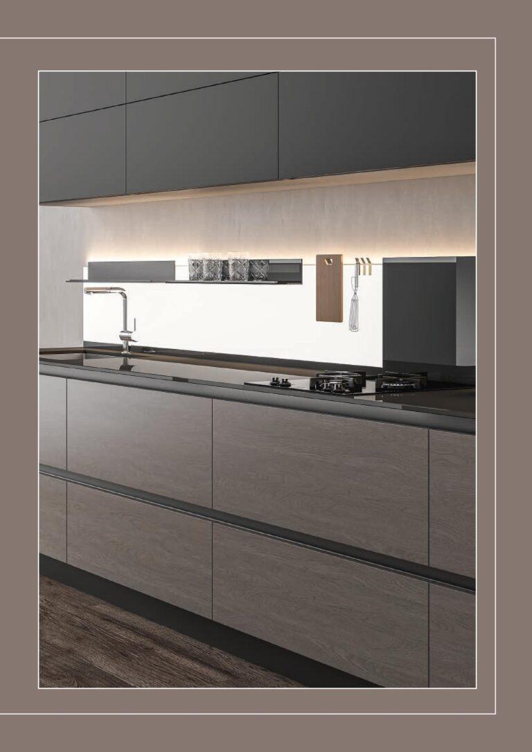 Iluminacion en muebles de cocina con panel retroiluminado