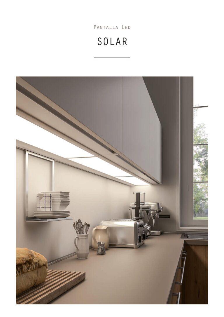 Sistema de luz para muebles de cocina con panel led.