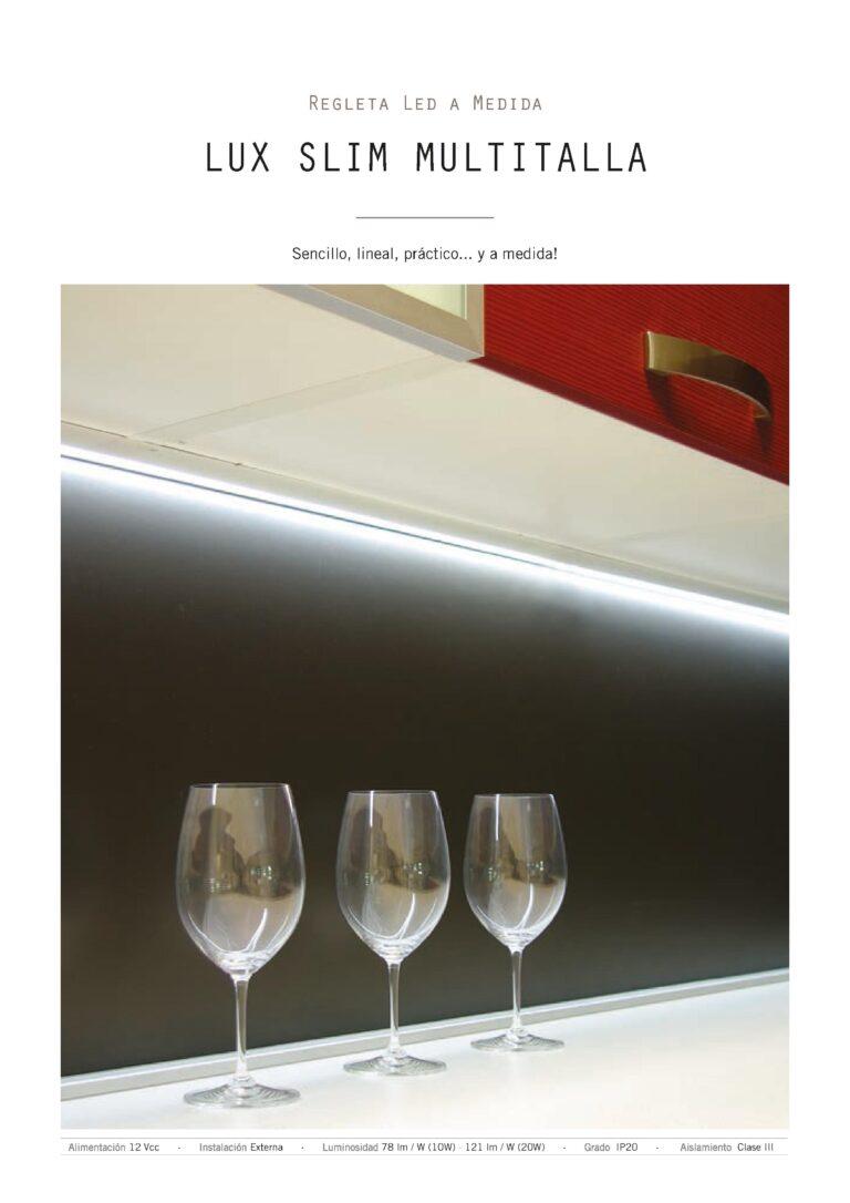 Sistema de luz para muebles de cocina con regleta led