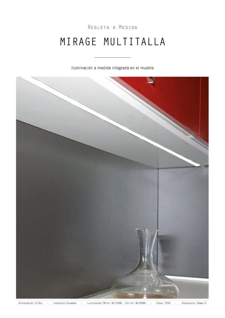 Sistema de luz para muebles de cocina con tira de led encastrable