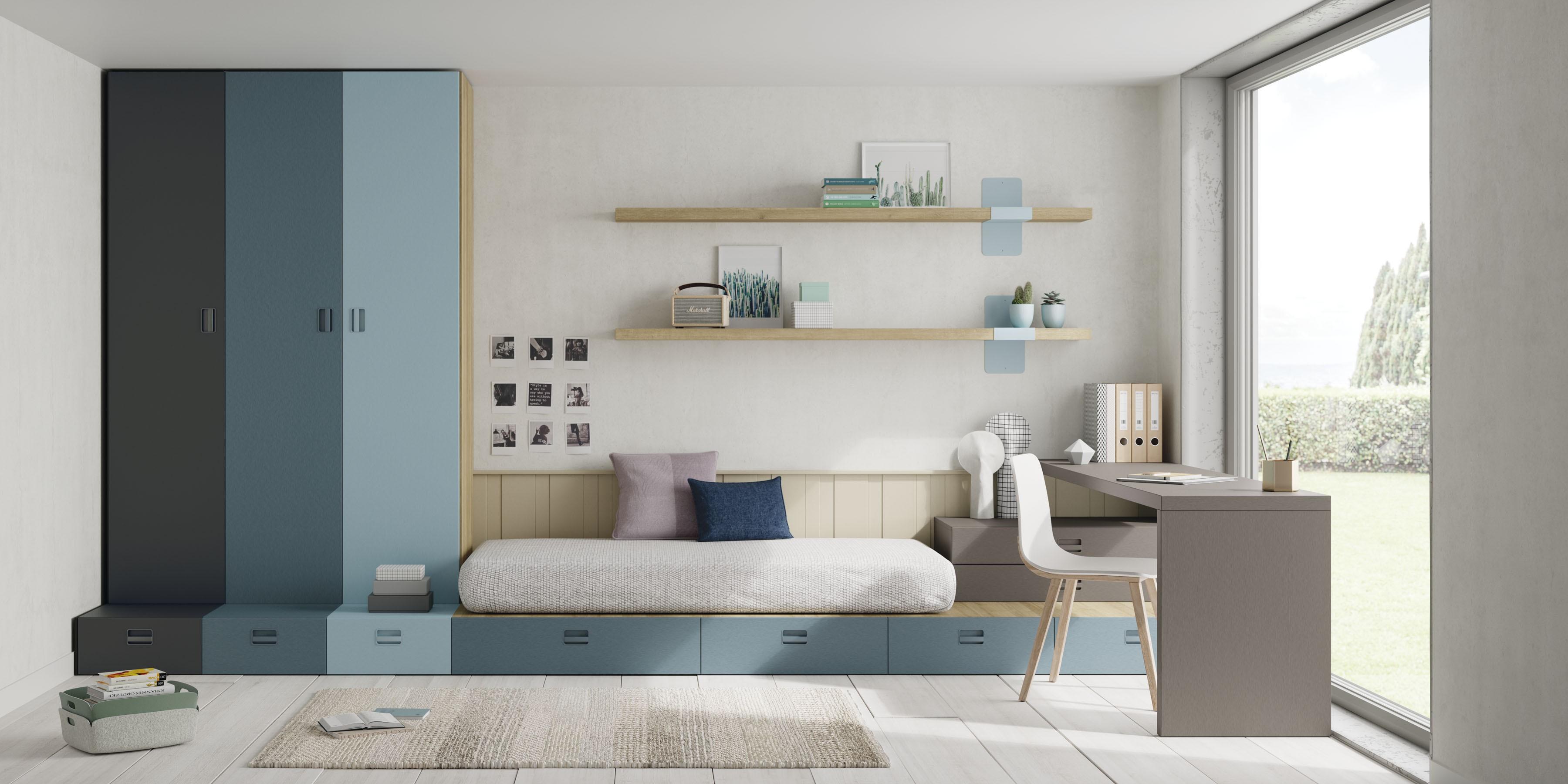 Selección de dormitorios juveniles completos
