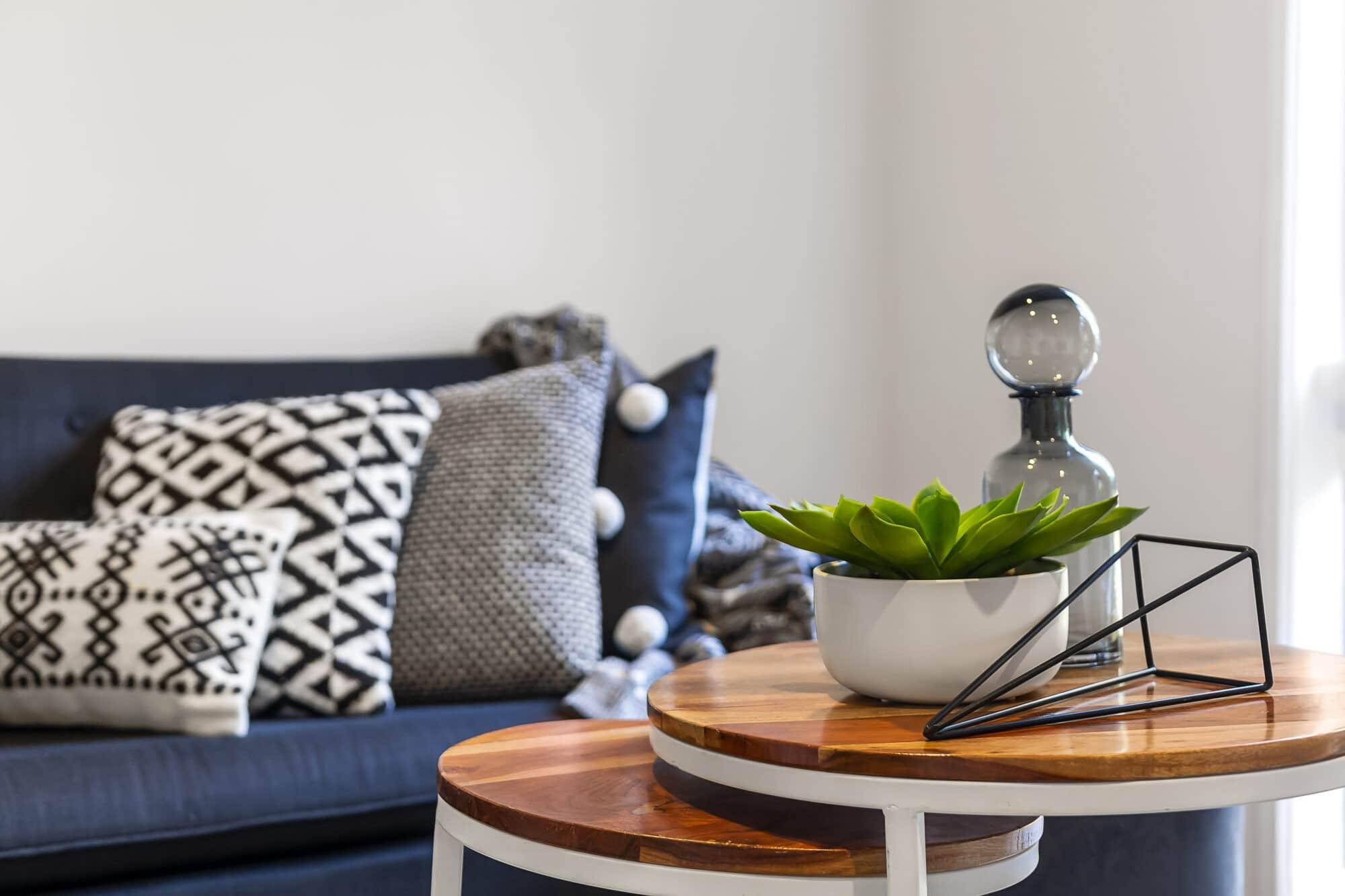 Decoración con muebles de salón de madera